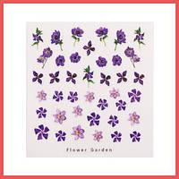 3D слайдер для дизайна ногтей Design Nail Applique - Flower Garden - DAndy for Love