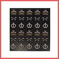 3D слайдер для дизайна ногтей Shiny Nail Applique - Dazzling Decoration - Shiny Crown
