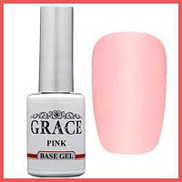 Каучуковая основа, база для гель-лака Грейс Grace Rubber Base Pink 10 мл