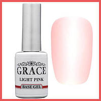 Каучуковая основа, база для гель-лака Грейс Grace Rubber Base Light Pink 10 мл