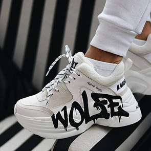 Кросівки Naked Wolfe Track Logo White / Найкед Білі