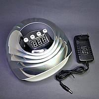 Лампа для маникюра SUN F8 UV/LED 86 Вт серебро голограмма