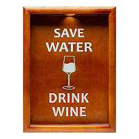 Копилка для винных пробок BST 38х28 см орех Save Water drink wine (PRK-52)