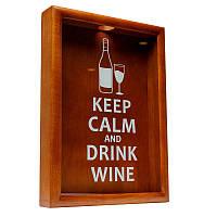 Копилка для винных пробок BST 38х28 см Keep calm and drink wine (PRK-53)