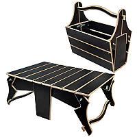 Корзина-раскладной столик для пикника BST KRK-01 45х28х45 см.