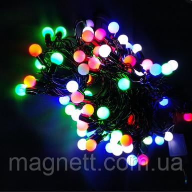 Светодиодная гирлянда шарики 100л разноцветная