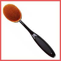 Кисть-щетка для макияжа черная под углом 3,5*5