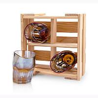 Набор 4 рокса для виски BST 520014 23х21х11 см.