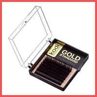 Ресницы изгиб С 0.07 (6 рядов: 10 мм), упаковка Gold Standart