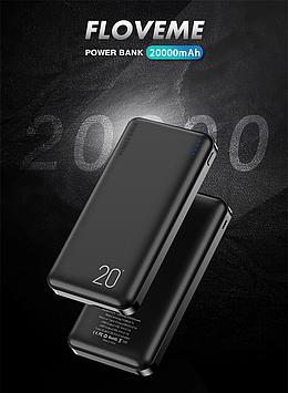 Power Bank. FLOVEME, портативное зарядное устройство, 20000 мАч,