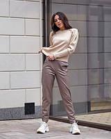 ✔️ Модные кожаные брюки свободные на меху 42-48 размера разные расцветки