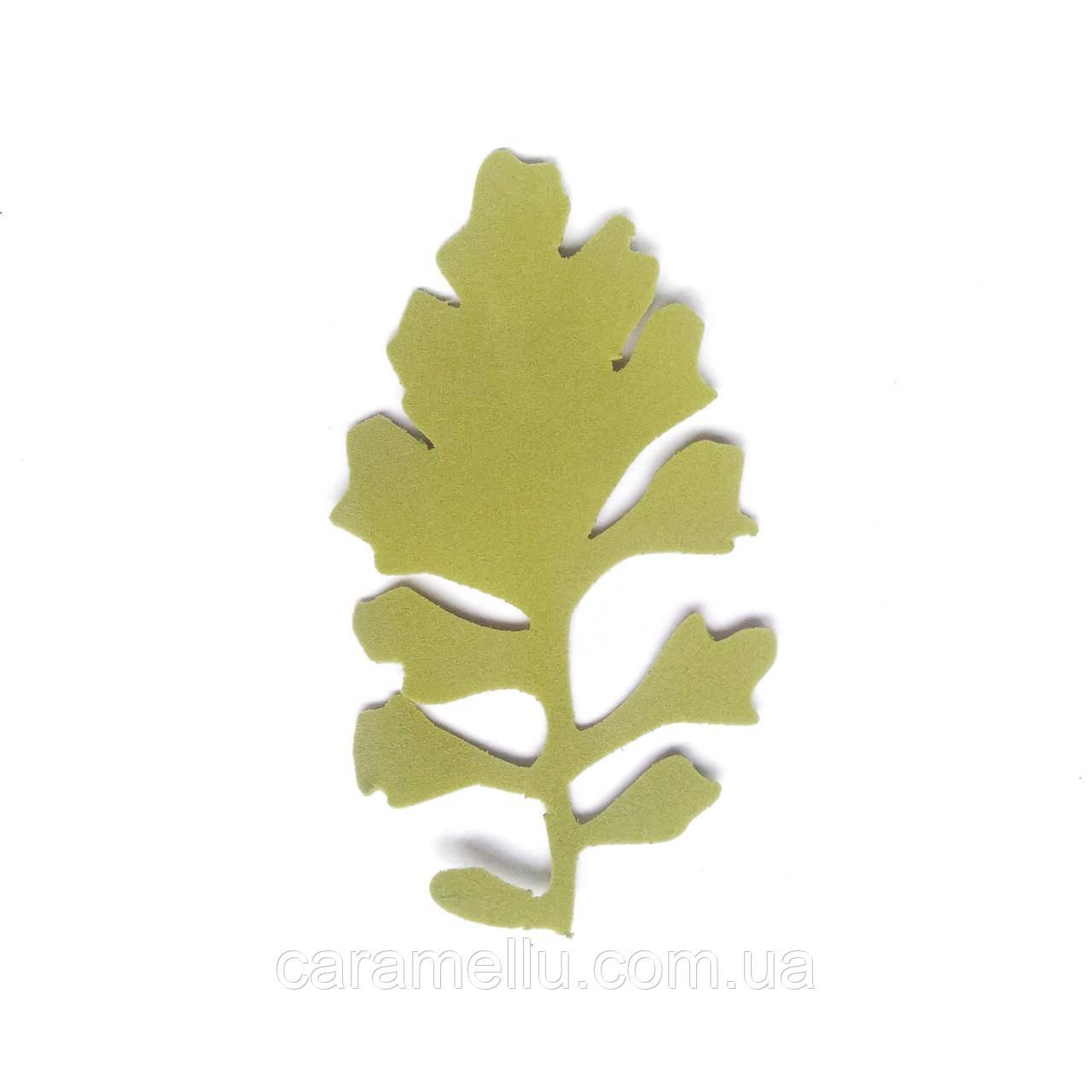 Лист цинерарии 9*5 см. Оливковый 173