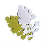 Лист цинерарии 9*5 см. Оливковый 173, фото 2