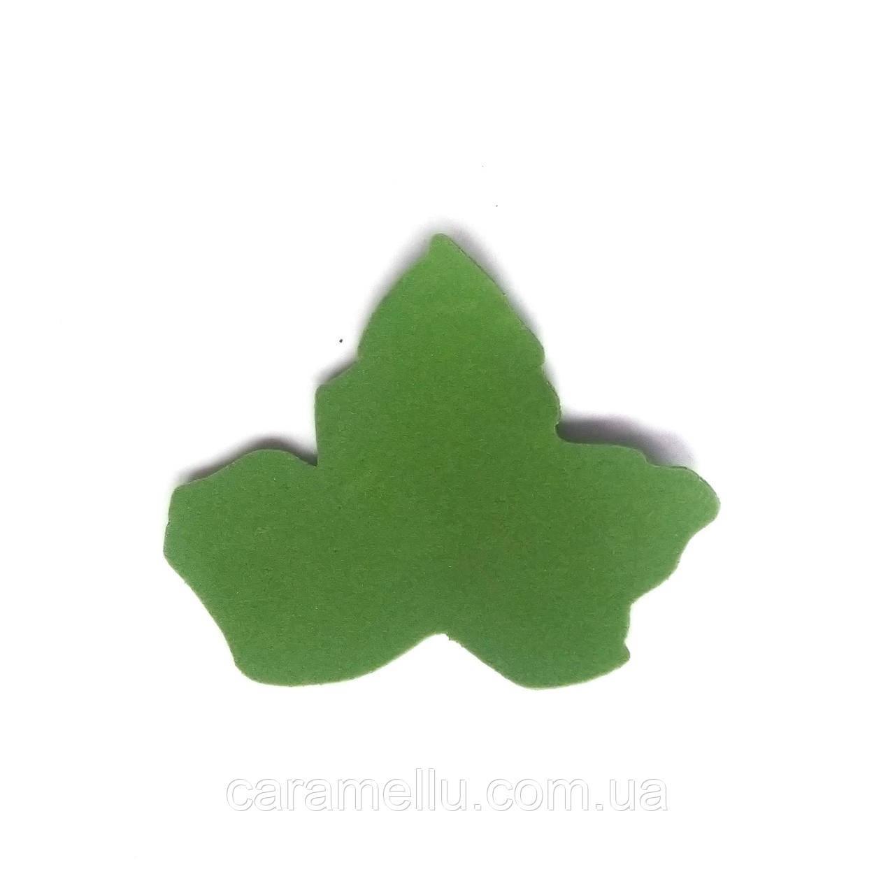 Лист земляники*5 см. Темно-зеленый 179
