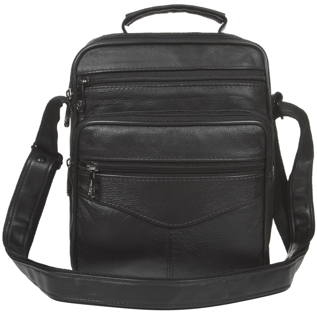 Мужская сумка BagHouse 25х20х12,5 вертикальная комбинированая кс510
