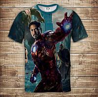 Футболка з принтом 3D Iron man, фото 1