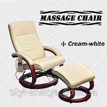 Відпочинкове крісло з масажем та підігрівом + підніжка