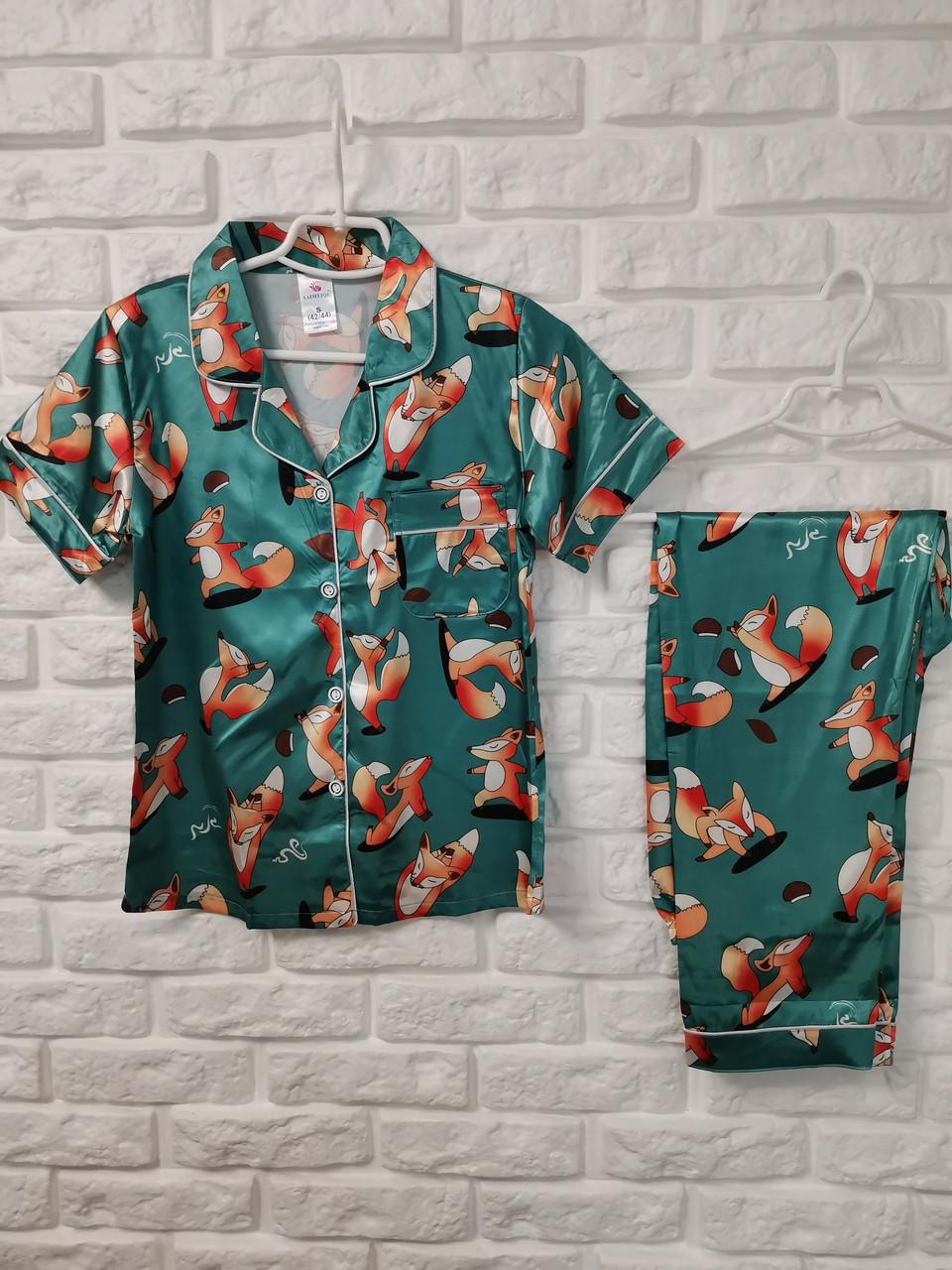 Женская пижама ткань атлас 777-2