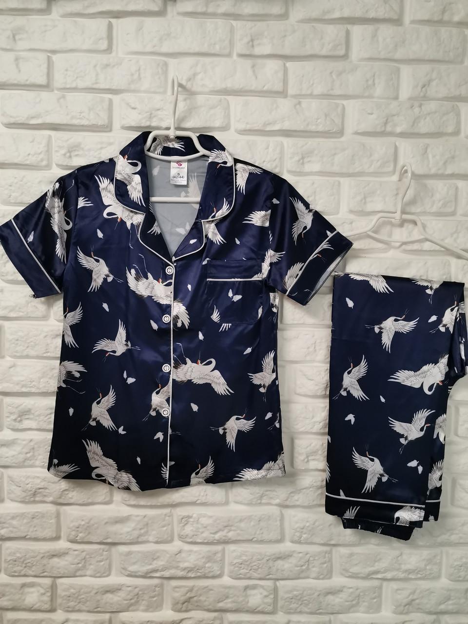 Женская пижама ткань атлас 777-3