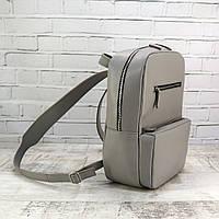 Рюкзак Mihey a4 серый из натуральной кожи kapri 1330103, фото 1