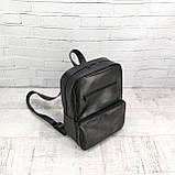 Рюкзак a4 черный из натуральной кожи alteya, фото 2