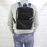Рюкзак a4 черный из натуральной кожи alteya, фото 3
