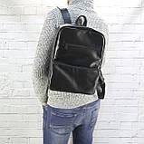 Рюкзак a4 черный из натуральной кожи alteya, фото 5