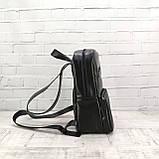 Рюкзак a4 черный из натуральной кожи alteya, фото 6