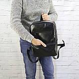 Рюкзак a4 черный из натуральной кожи alteya, фото 7