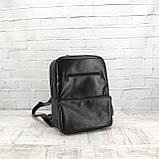 Рюкзак a4 черный из натуральной кожи alteya, фото 8