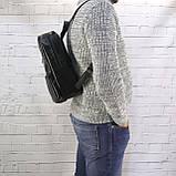 Рюкзак a4 черный из натуральной кожи alteya, фото 9