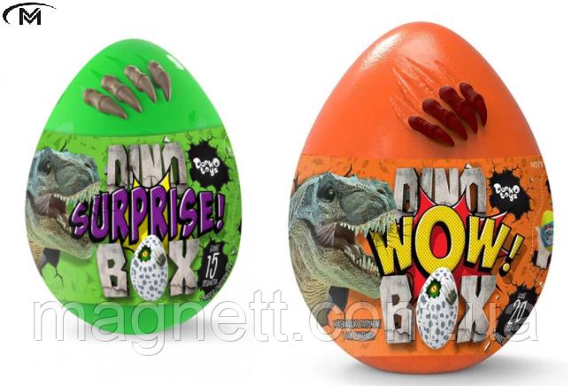 Игровой набор Danko Toys Dino WOW Box яйцо динозавра с аксессуарами 35х25х25 см