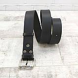 Ремень поясной 38 мм черный из натуральной кожи, фото 3