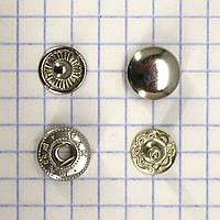 Кнопка альфа 10 мм никель Турция t5130 (100 шт.)