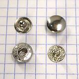 Кнопка альфа 10 мм никель Турция t5130 (100 шт.), фото 2