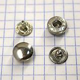 Кнопка альфа 10 мм никель Турция t5130 (100 шт.), фото 3