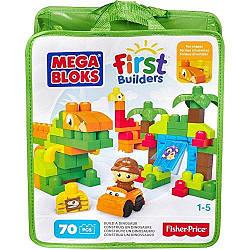 Конструктор Mega Bloks - Построй динозавра (Build-A-Dinosaur, First Builders), 70 дет, 1+ (CNV30)