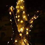 Гирлянда роса медная нить Конский Хвост (теплый белый) warm white 200 LED, фото 2