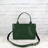 Портфель gs 1800 зеленый из натуральной кожи kapri, фото 4