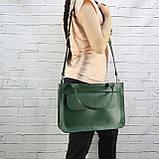 Портфель gs 1800 зеленый из натуральной кожи kapri, фото 5