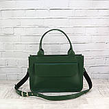 Портфель gs 1800 зеленый из натуральной кожи kapri, фото 8