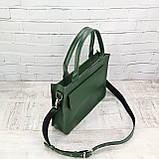 Портфель gs 1800 зеленый из натуральной кожи kapri, фото 10
