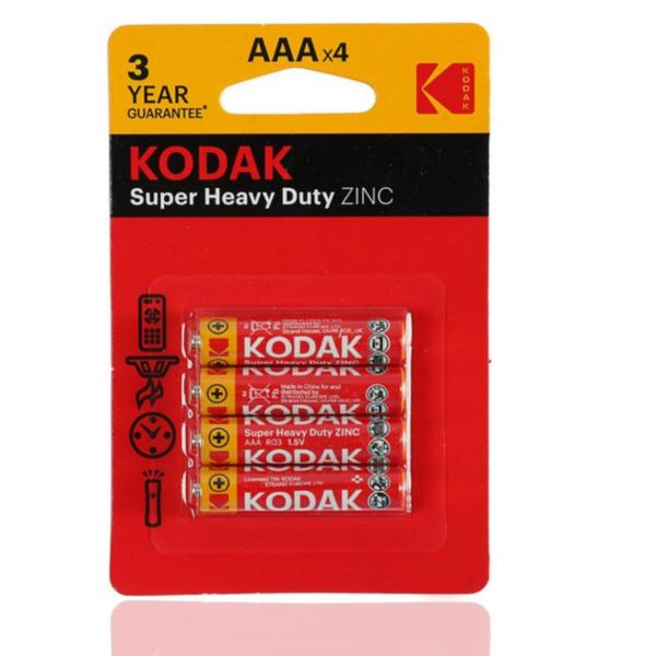 Батарейки Kodak R3 солевая комплект 4 шт