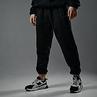 Теплые спортивные штаны оверсайз Пушка Огонь SCALE черные, фото 1
