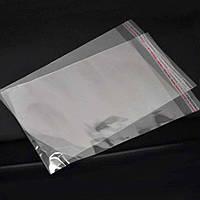 Пакет прозрачный полипропиленовый + скотч 45*51+4\25мк +скотч (1000 шт)