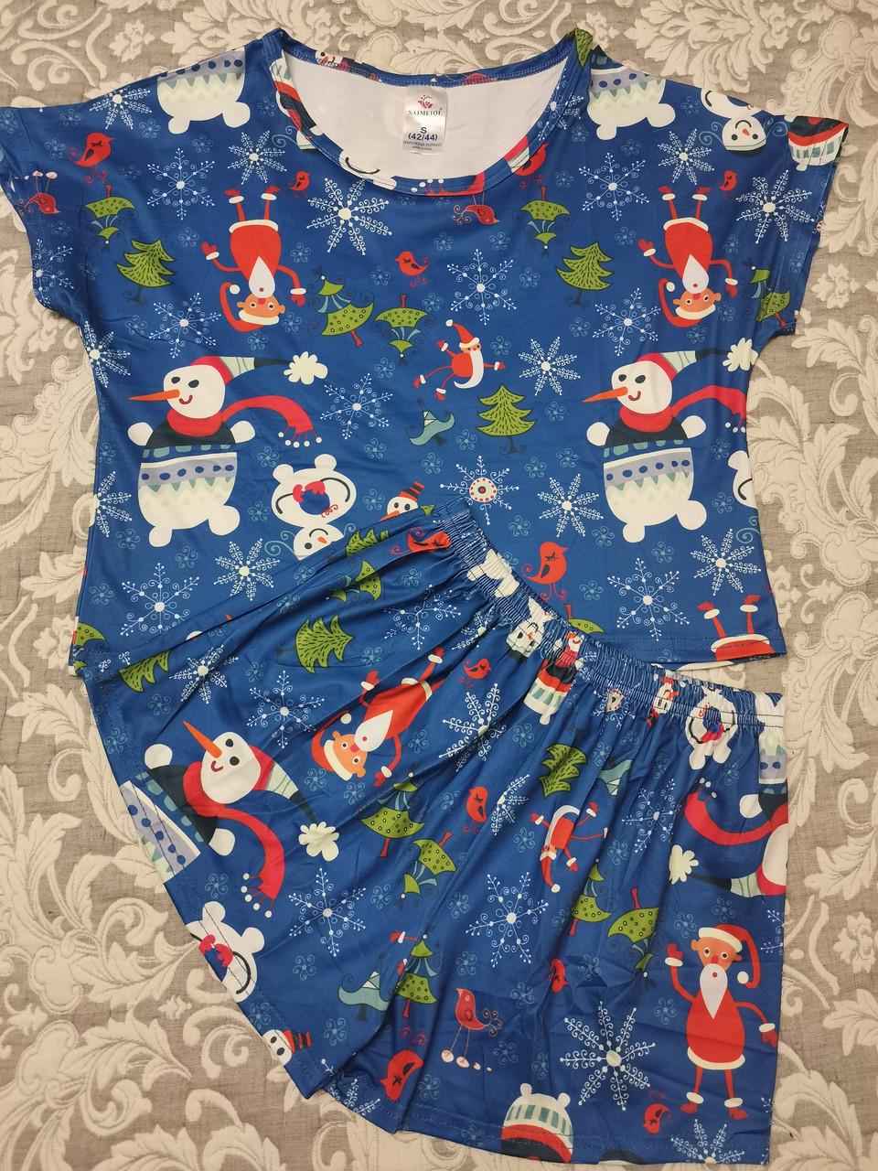 Молодежная пижама шорты + топик 120-9