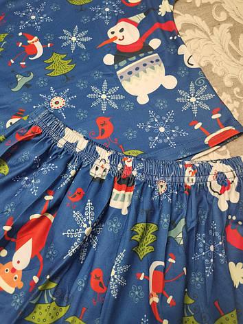 Молодежная пижама шорты + топик 120-9, фото 2