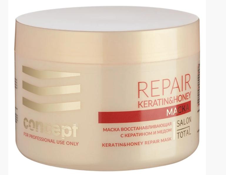 Маска восстанавливающая с медом для сухих и поврежденных волос Concept (500мл.)