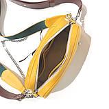Сумка-багет с митенкой, цвет горчица/ бордо, фото 6