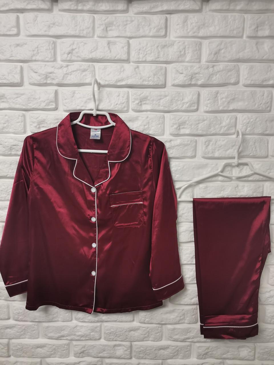 Женская пижама ткань атлас 9090-1